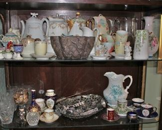Loads of Vintage Porcelain Pitchers, and Decorative Objects