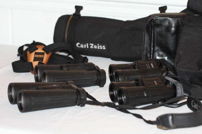 Zeiss binoculars, scope and misc.