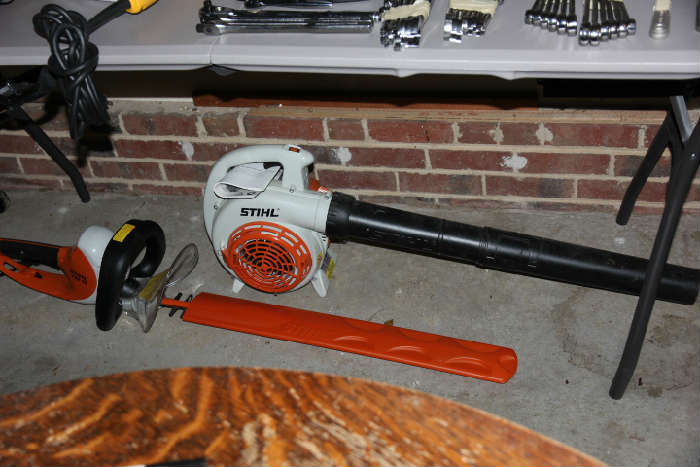 Stihl hedge trimmer and blower