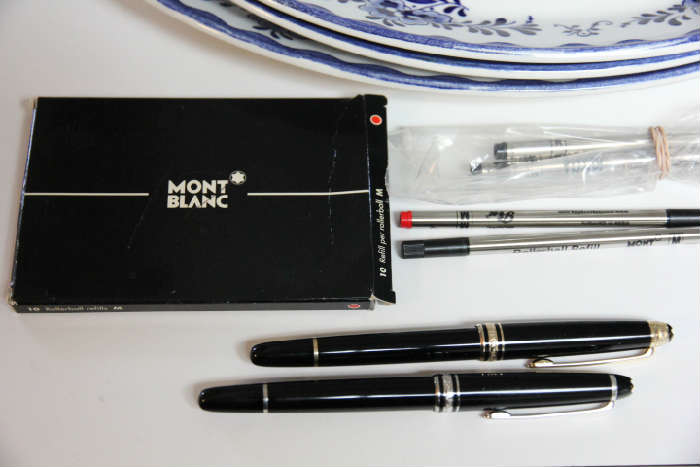 We have several Montblanc pens in the sale