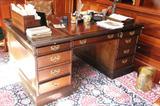 Impressive partner's desk from Sligh Furniture of Grand Rapids, Michigan.