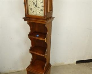 New England Co. Shelved Grandfather Clock