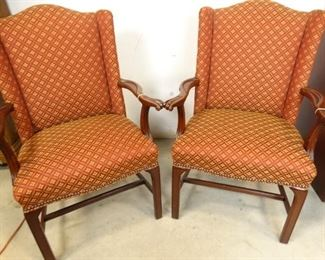 Red Gold Upholstered Chairs