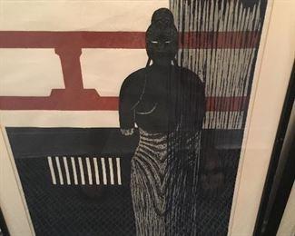 Kiyoshi Saito signed colored wood cuts 1959  $1100         1 in a series of 3