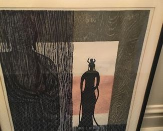 Kiyoshi Saito 1959 signed. Colored woodcuts. $1100