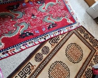 Rugs. Dragons. Chinese.