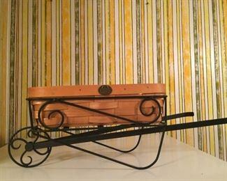 Longaberger basket in Wrought Iron Wagon.