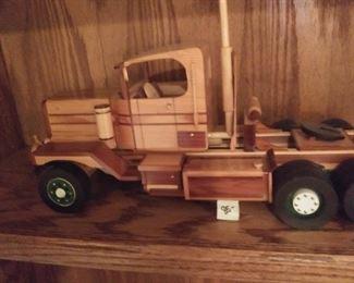Beautiful hand made truck made by a veteran