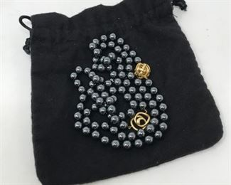 Angela Cummings Hematite Necklace      https://ctbids.com/#!/description/share/178792