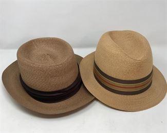 Vintage Dobbs Straw Hats      https://ctbids.com/#!/description/share/178832