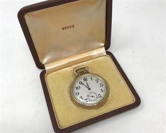 10K Buren Grand Prix Gold Pocket Watch        https://ctbids.com/#!/description/share/178883