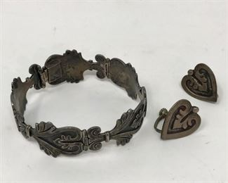 Maricela Taxco Sterling Silver Jewelry Set            https://ctbids.com/#!/description/share/178916