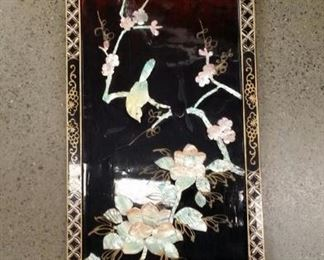 tbs Chinese lacquer and shell Spring branch