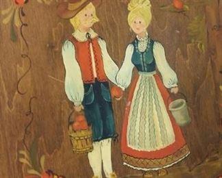 tbs vintage painted lid basket