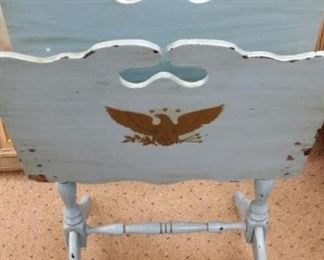 tbs vintage painted wooden magazine stand