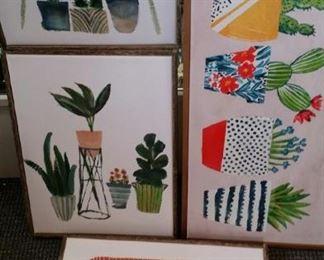 tbs 5 framed botanical canvases