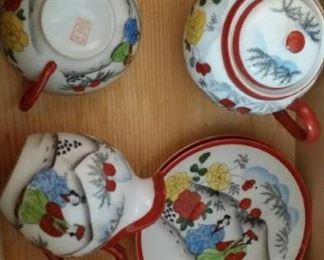tbs Asian porcelain set
