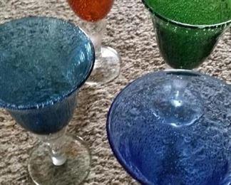 tbs bubble glass goblets