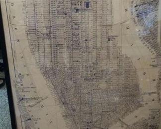 tbs Manhattan framed poster