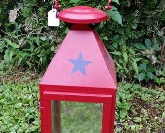 tbs pair tall red lanterns