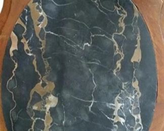 tbs black marble topped table