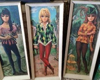 tbs vintage harlequin girls