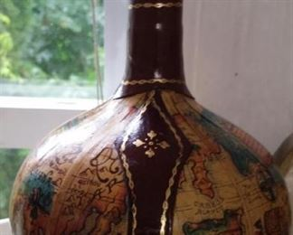 tbs embossed leather wrapped decanter