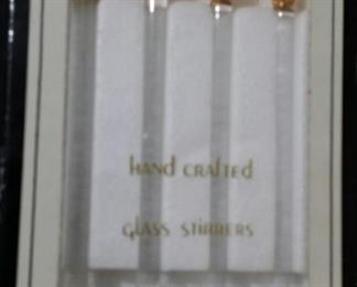 tbs glass unicorn stirrers