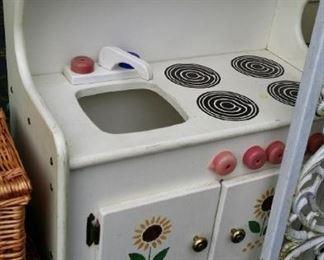 tbs wooden painted kitchen playset