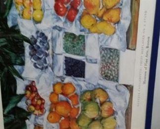 tbs blue framed Caillebotte fruit poster