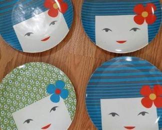 tbs Japanese flower girl plates