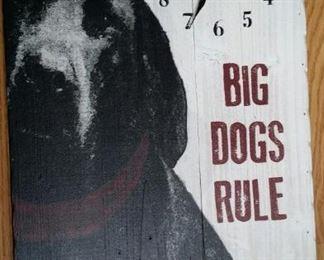 tbs Big dogs clock