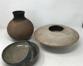 Signed Pottery Trio     https://ctbids.com/#!/description/share/178994