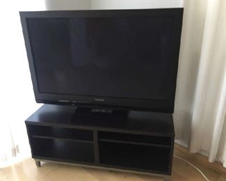 "50"" PLASMA TV and TV stand"