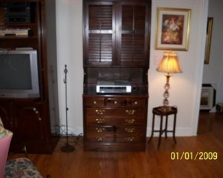 Ethan Allen Entertainment Center. Chest