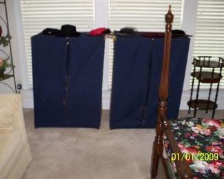 Pair Cedar Clothing Storage Units
