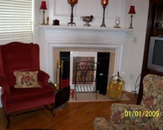 Misc Lamps and fireplace decorations,