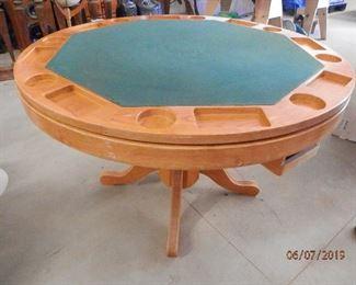 Game table...Oak     Flip top