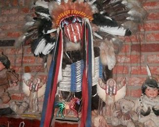 Head dress and chest decoration...Cathy dolls and MORE