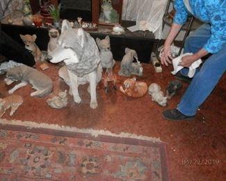 Animal art and corner of woven SW rug
