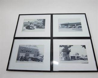 Vintage Black and White Fireman Photos