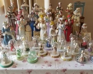 Large selection of Avon doomed figurines-issued only to long time distributors.