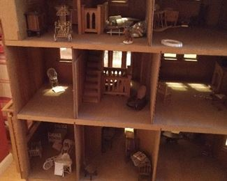 CLOSE-UP...INSIDE DOLL HOUSE