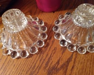 CANDLEWICK  CANDLE HOLDERS