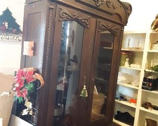 Cant believe this beauty is still here!!  Late 1800s break away display armoire.... 75% off!