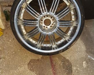 """Late arrival.... 20"""" rims and low profile tires!  Make an offer!"""