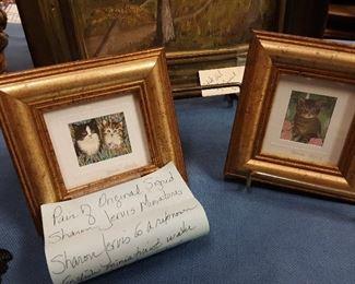 Pair of original Sharon Jervis miniatures.... very nice!!