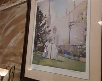 Robert Rucker' s  beautiful piece of Bishop Ott.... hand signed by both Rucker and Bishop Ott
