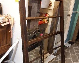 Antique folding quilt rack