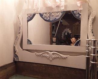 Mosaic trimmed mirror